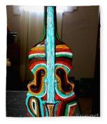 Guitar Vase Fleece Blanket