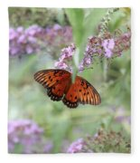 Gulf Fritillary Agraulis Vanillae-featured In Nature Photography-wildlife-newbies-comf Art Groups  Fleece Blanket