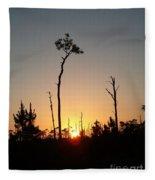 Gulf Shores Sunset Fleece Blanket