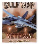 Gulf War Veteran F-14 Tomcat  Fleece Blanket