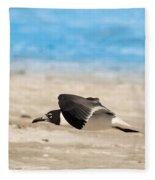 Gull At Lido Beach Iv Fleece Blanket