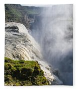 Gullfoss Iceland Fleece Blanket