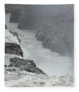 Gullfoss Waterfall Iceland Fleece Blanket