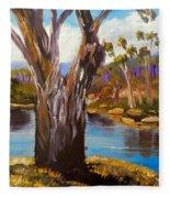 Gum Trees Of The Snowy River Fleece Blanket