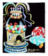 Gumball Machine And The Lollipops Fleece Blanket