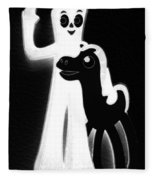 Gumby And Pokey B F F Black White Fleece Blanket