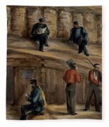 Gunners Of The Royal Regiment Fleece Blanket