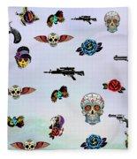 Guns And Roses  Fleece Blanket