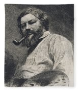 Gustave Courbet Fleece Blanket