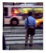Crossing The Street - Traffic Fleece Blanket