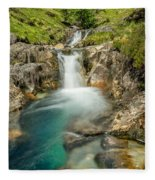 Gwynant Waterfall Fleece Blanket