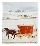 Gypsy Caravan Fleece Blanket