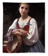 Gypsy Girl With A Basque Drum Fleece Blanket