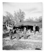 Gyspy Encampment, C1900 Fleece Blanket