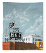 H And C Coffee Fleece Blanket