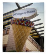Haagen Dazs Ice Cream Signage Downtown Disneyland 01 Fleece Blanket
