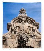 Habsburg Gate Details In Budapest Fleece Blanket