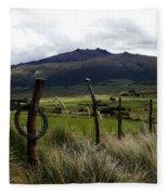 Hacienda El Porvenir Ranch View Fleece Blanket