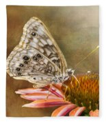 Hackberry Emperor Butterfly 2 Fleece Blanket