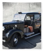 Hackney Carriage Austin Fx3 Of London C. 1955 Fleece Blanket