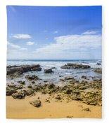 Hadera Mediterranean Beach Fleece Blanket