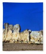 Hagar Qim Stone Temple, Malta Fleece Blanket