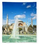 Haghia Sophia Fountain 02 Fleece Blanket