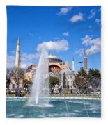 Haghia Sophia Fountain Fleece Blanket