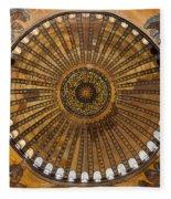 Hagia Sofia Ceiling Fleece Blanket
