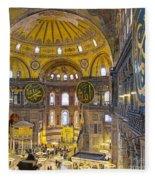 Hagia Sofia Interior 17 Fleece Blanket