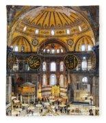 Hagia Sofia Interior 35 Fleece Blanket