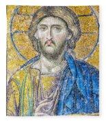 Hagia Sofia Jesus Mosaic Fleece Blanket