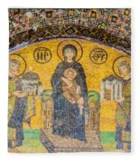 Hagia Sofia Mosaic 03 Fleece Blanket