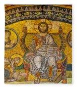 Hagia Sofia Mosaic 04 Fleece Blanket