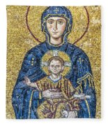 Hagia Sofia Mosaic 05 Fleece Blanket