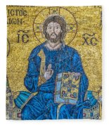 Hagia Sofia Mosaic 09 Fleece Blanket