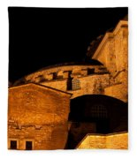 Hagia Sophia At Night Fleece Blanket