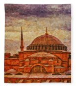 Hagia Sophia Digital Painting Fleece Blanket