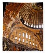 Hagia Sophia Dome 03 Fleece Blanket