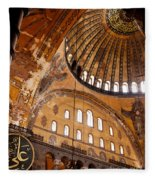 Hagia Sophia Dome 03 Fleece Blanket