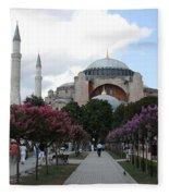 Hagia Sophia I - Istanbul - Turkey Fleece Blanket