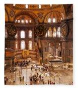 Hagia Sophia Interior 04 Fleece Blanket