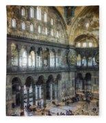 Hagia Sophia Interior Fleece Blanket