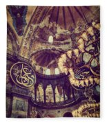 Hagia Sophia Lighting Fleece Blanket