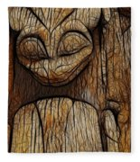 Haida Totem Fleece Blanket