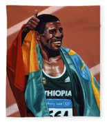 Haile Gebrselassie Fleece Blanket