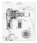 Hair Dryer 3 Patent Art 1931 Fleece Blanket