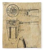 Hair Dryer Patent Art 1911 Fleece Blanket