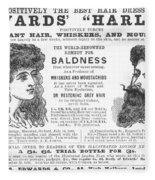 Hair Restorative, 1891 Fleece Blanket