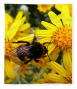 Hairy Visitor Fleece Blanket